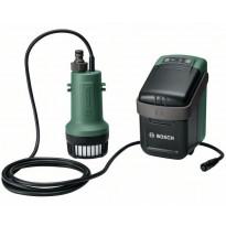 Akkuvesipumppu Bosch GardenPump 18, 18V, 2.5Ah akulla