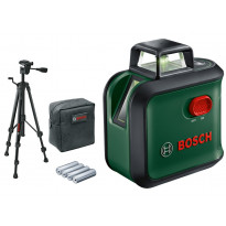Ristilinjalaser Bosch AdvancedLevel 360 Set, jalustalla