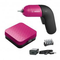 Akkuruuvinväännin Bosch IXO 6, akulla, pinkki