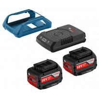 Akku- ja laturipaketti Bosch Wireless 18V 2x4,0Ah