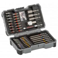 Ruuvauskärki- ja kuusiohylsysarja Bosch Extra Hard, 43 osaa