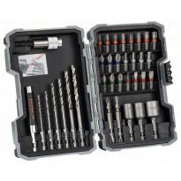 Poranterä- ja ruuvauskärkisarja Bosch Extra Hard Metal HSS, 35 osaa