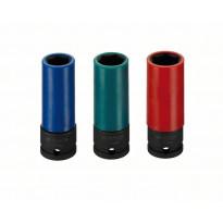 Kuusiohylsysarja Bosch Impact Control, 17-21mm, 3 osaa