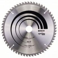 Pyörösahanterä Bosch Optiline Wood 254x2.0x30mm 60T