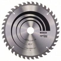 Pyörösahanterä Bosch Optiline Wood 254x2.8x30mm 40T