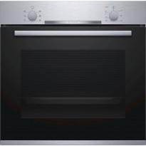 Uuni Bosch HBA530BS0S, 60cm, musta/teräs
