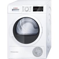 Lämpöpumppukuivausrumpu Bosch WTW854L8SN, 8kg, valkoinen