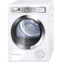 Lämpöpumppukuivausrumpu Bosch WTY88898SN, 8kg, valkoinen