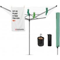 Pyykinkuivausteline Brabantia Lift-O-Matic Advance, 60m, maaterä + suojapussi + pyykkipoikapussi