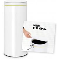 Roska-astia Brabantia Flip Bin, 30L, White, Verkkokaupan poistotuote