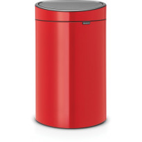 Roska-astia Brabantia Touch Bin, 40L, Passion Red