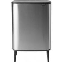 Roska-astia Brabantia Bo Touch Hi, 2 x 30L, Matt Steel Fingerprint Proof