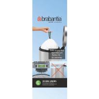 Roskapussi Brabantia PerfectFit G 23-30L,itraa 20 kpl x 12 rullaa