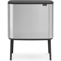 Roska-astia Brabantia Bo Touch, 11+23L, Matt Steel Fingerprint Proof