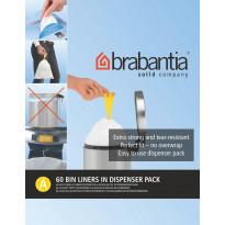 Roskapussi Brabantia PerfectFit A, 3 litraa, 60kpl x 12 jakelupakkausta
