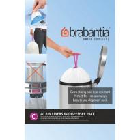Roskapussi Brabantia PerfectFit C, 10-12 litraa, 40kpl x 12 jakelupakkausta