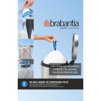 Roskapussi Brabantia PerfectFit E, 20 Litraa, 40kpl x 12 jakelupakkausta