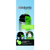 Roskapussi kompostoituva Brabantia PerfectFit K, 10 Litraa, 10kpl x 12 rullaa