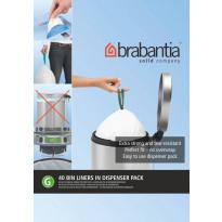 Roskapussi Brabantia PerfectFit G, 23-30 Litraa, 40 kpl x 10 jakelupakkausta