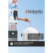Roskapussi Brabantia PerfectFit H, 50-60 Litraa, 30kpl x 9 jakelupakkausta, Verkkokaupan poistotuote