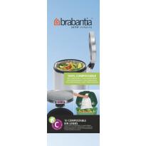 Roskapussi kompostoituva Brabantia PerfectFit C, 10-12 litraa, 10kpl x 12 rullaa
