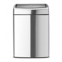 Roska-astia Brabantia Touch Bin 10L, Matt Steel FPP