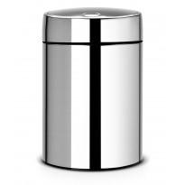 Roska-astia Brabantia Slide Bin 5L, Brilliant Steel