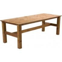 Pöytä Birka, 90x220 cm, ruskea