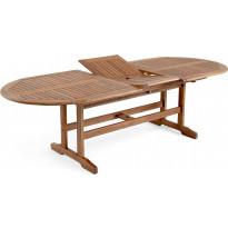 Pöytä Everton, jatkettava, 100x200/250cm, ruskea