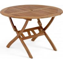Pöytä Everton, taitettava, Ø110cm, ruskea