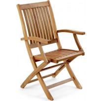 Tuoli Everton, taitettava, käsinojilla, ruskea