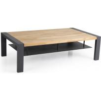 Sohvapöytä Amesdale, 80x140cm, musta/tiikki