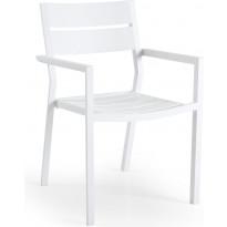 Tuoli Delia, pinottava, valkoinen