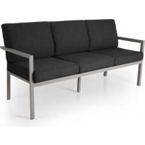 Sohva Delia, 3-istuttava, khaki/harmaa