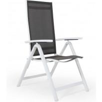 Tuoli Creston, säädettävä, valkoinen/harmaa
