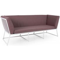 Sohva Vence, 3-istuttava, punainen