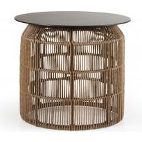 Sivupöytä Pamir, Ø50cm, ruskea, Verkkokaupan poistotuote