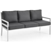 Sohva Bergerac, 3-istuttava, valkoinen/harmaa
