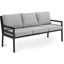 Sohva Bergerac, 3-istuttava, musta/harmaa