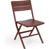 Tuoli Wilkie, taitettava, tummanpunainen