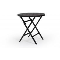 Sivupöytä Wilkie, Ø72cm, musta