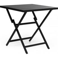 Pöytä Wilkie, taitettava, 72x72cm, musta
