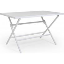 Pöytä Wilkie, taitettava, 72x120cm, valkoinen