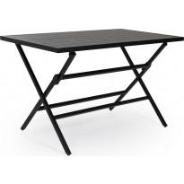 Pöytä Wilkie, taitettava, 72x120cm, musta
