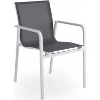 Tuoli Renoso, pinottava, valkoinen/harmaa