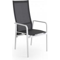 Tuoli Renoso, säädettävä, pinottava, valkoinen/harmaa