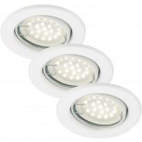 LED-alasvalo Briloner, 3-osainen, kohdistettava, 3xGU10 3W, valkoinen