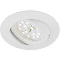LED-alasvalo Briloner, himmennettävä 5,5W, IP23, valkoinen