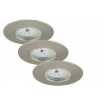 LED-alasvalo Briloner, 3x5.5W, IP44, himmennettävä, ulkokäyttöön, harjattu teräs