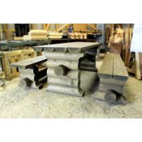 Hirsikalusto Broowood perinteinen, irtopenkeillä, 2000mm